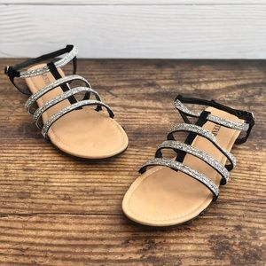 Just Fab Sari Gladiator Sandal Black Size 7